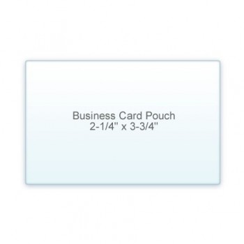 "Business Card Pouch 2 1/4"" x 3 3/4"" 7 Mil (5/2)"