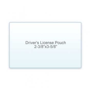 "Drivers License Pouch 2 3/8"" x 3 5/8"" 7 Mil (5/2)"