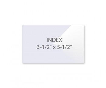 "Index Pouch 3 1/2"" x 5 1/2"" 10 Mil (7/3)"