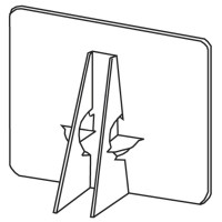 "7"" White Double-Wing Easel Backs - LineCo, Inc. - Easels 7DE - Laminating Pouches Accessories"