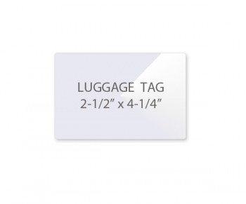 "Luggage Tag Pouches w/ Slot 2 1/2"" x 4 1/4"" 5 Mil (3/2)"