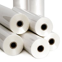 "Roll Laminating Film  25"" x 1000'  5 mil  Co-Polymer  3"" Core - Clear"