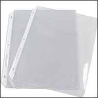 "Top Loading Sheet Protector for 8 1/2"" x 11"" Insert"