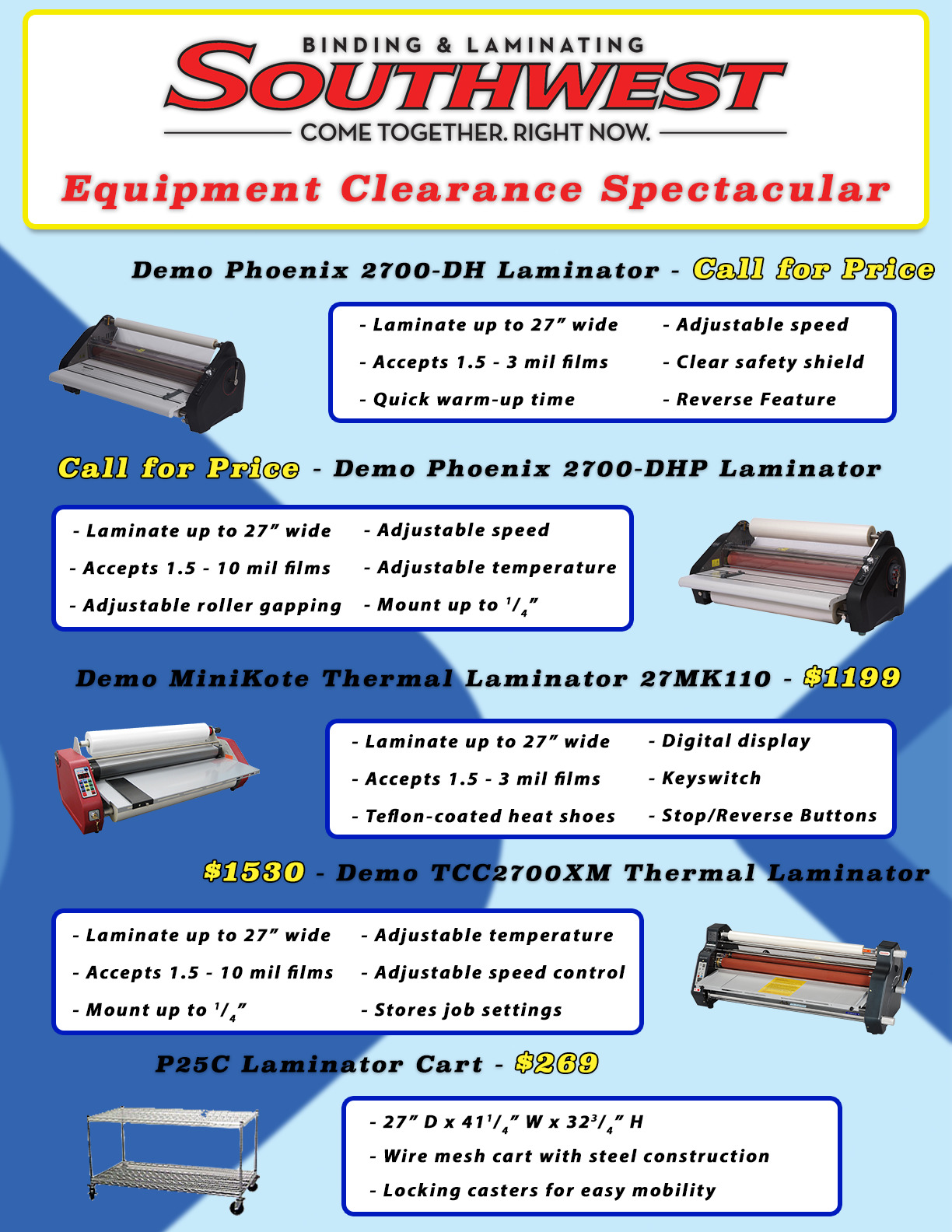 Equipment Clearance Spectacular